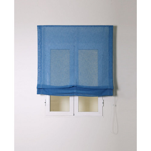 Estor plegable rustipol azul 120x250cm