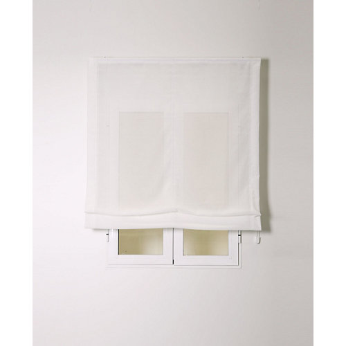 Estor plegable siena blanco 120x250cm