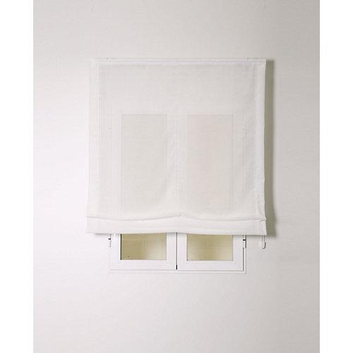 Estor plegable siena blanco 90x250cm