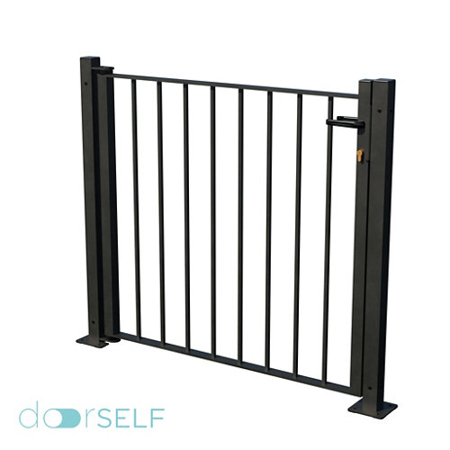 Kit puerta bricofen 116x93,5 cm gris forja