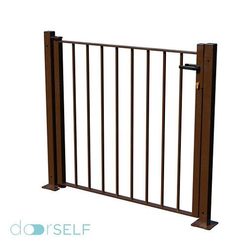 Kit puerta bricofen 116x93,5 cm óxido
