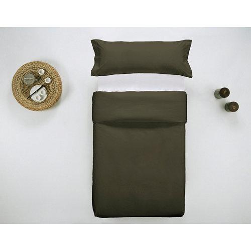 Funda nórdica cama 90 percal liso oliva w.g.