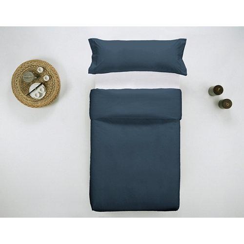 Funda nórdica cama 90 percal liso noche w.g.