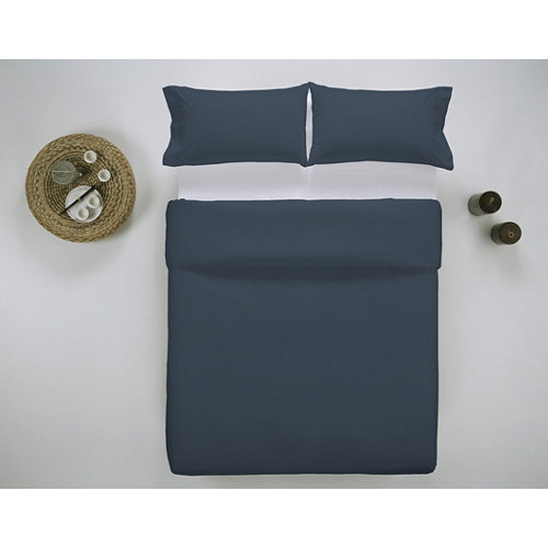 Funda nórdica cama 105cm percal liso noche w.g.