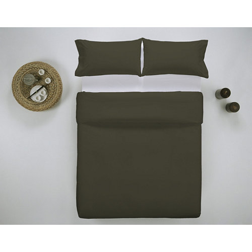 Funda nórdica cama 135cm percal liso oliva w.g.