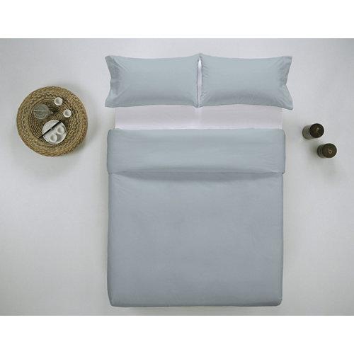 Funda nórdica cama 150cm percal liso sky w.g.