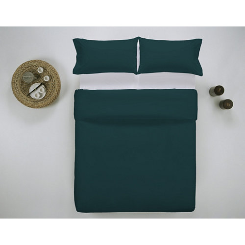 Funda nórdica cama 150cm percal liso teal w.g.