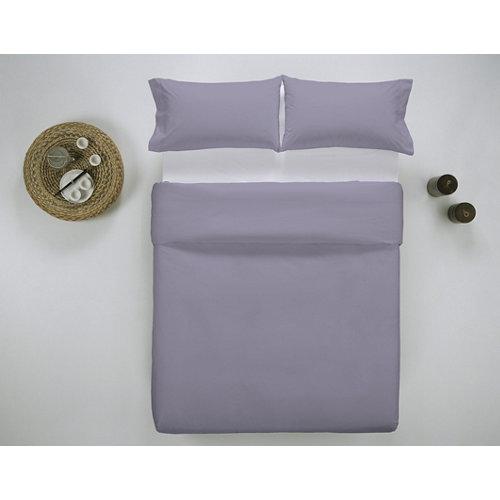 Funda nórdica cama 150cm percal liso lavanda w.g.