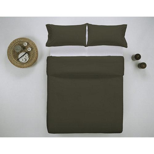 Funda nórdica cama 150cm percal liso oliva w.g.