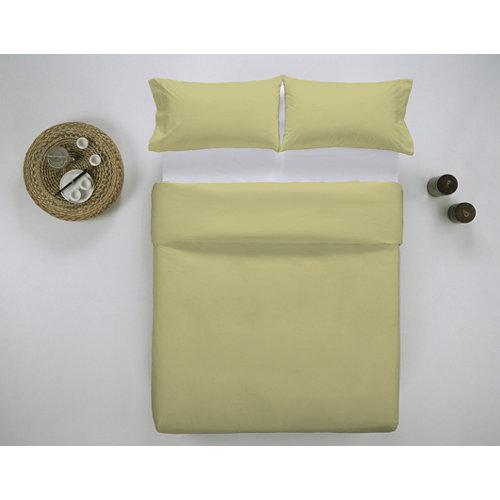 Funda nórdica cama 180cm percal liso yellow w.g.