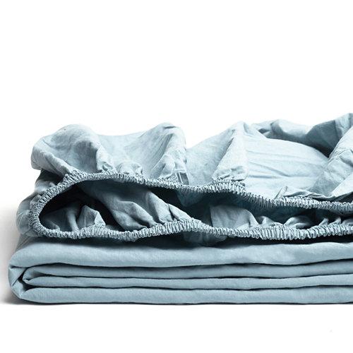 Sabana bajera ajustable cama 90cm percal liso teal w.g.