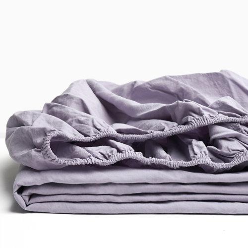 Sabana bajera ajustable cama 90cm percal liso perla w.g.