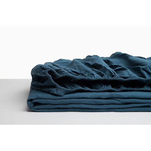 Sabana bajera ajustable cama 105cm percal liso noche w.g.