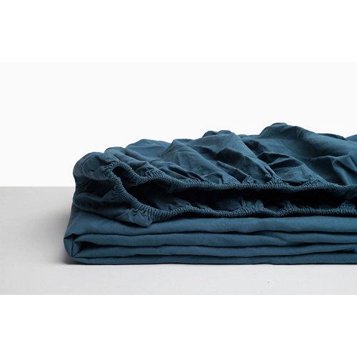 Sabana bajera ajustable cama 150cm percal liso noche w.g.