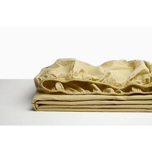 Sabana bajera ajustable cama 150cm percal liso yellow w.g.