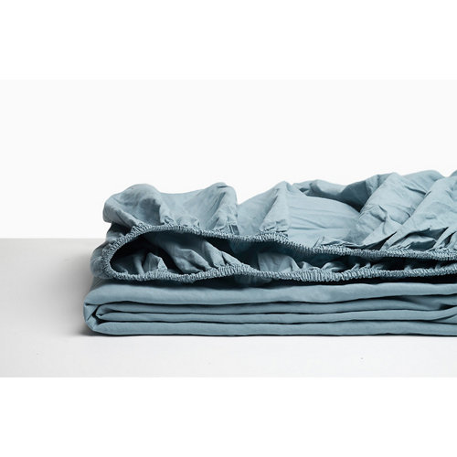 Sabana bajera ajustable cama 180cm percal liso sky w.g.
