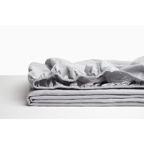 Sabana bajera ajustable cama 180cm percal liso perla w.g.