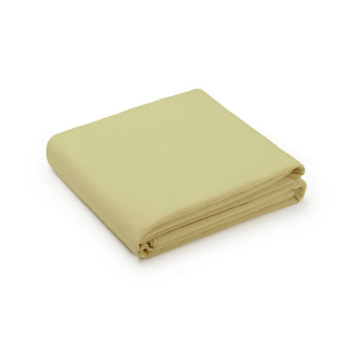 Sabana encimera cama 180cm percal liso yellow w.g.