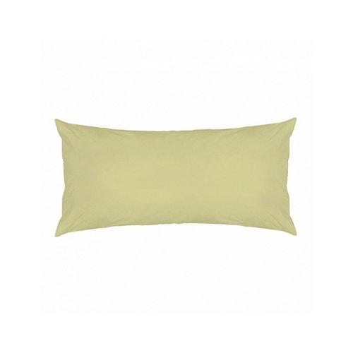 Funda almohada 45x125 percal liso cama 135cm yellow w.g.