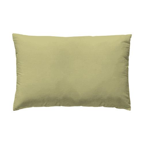 Funda almohada 50x75 percal liso yellow w.g. pack 2 und