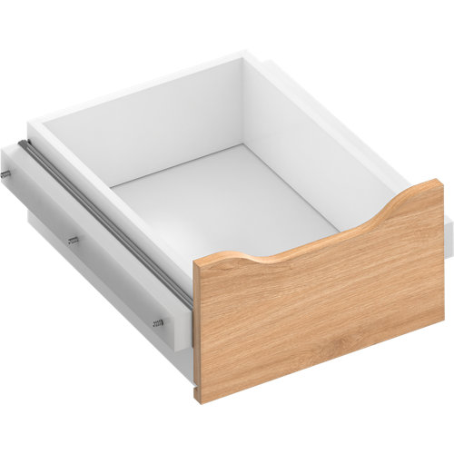 Kit cajón interior para módulo de armario spaceo home roble 40x16x45 cm
