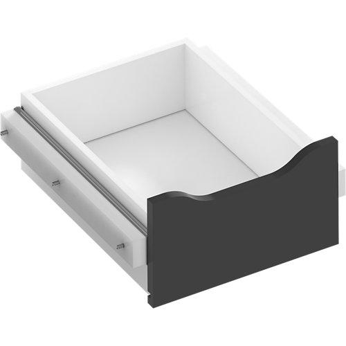 Kit cajón interior para módulo de armario spaceo home gris 40x16x45 cm