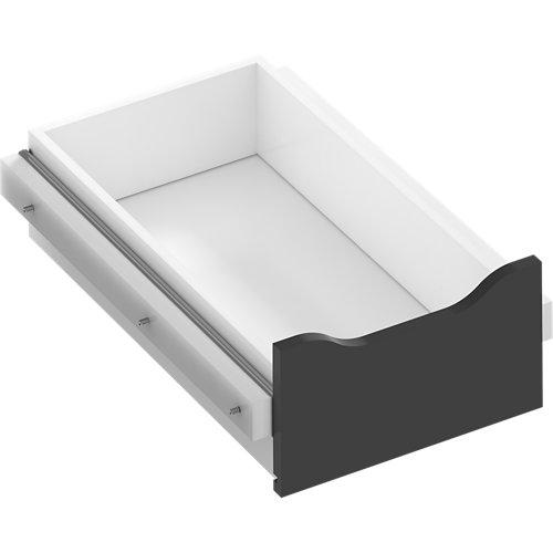 Kit cajón interior para módulo de armario spaceo home gris 40x16x60 cm