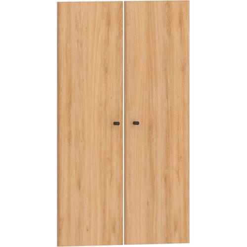 Pack 2 puertas abatibles para módulo spaceo home roble 60(2x30cm)x100cm