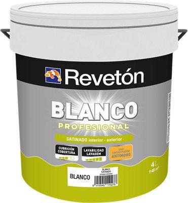Pintura Revetón Profesional blanco satinado 4L