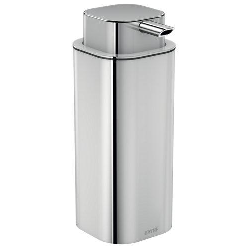 Dispensador de jabón line de acero inoxidable gris / plata