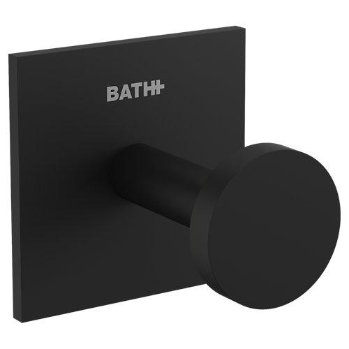 Percha de baño stick negro mate