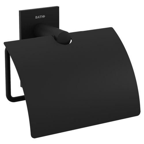 Portarollo wc stick negro mate 12,5x11,5x6 cm