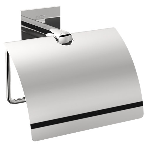 Portarollo wc stick gris / plata brillante 12,5x11,5x6 cm