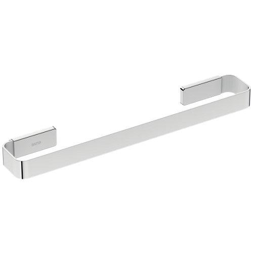 Toallero gris / plata cromado 40x3 cm