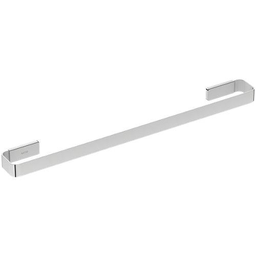 Toallero gris / plata cromado 60x3 cm