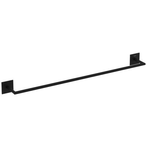 Toallero stick negro 60x3 cm