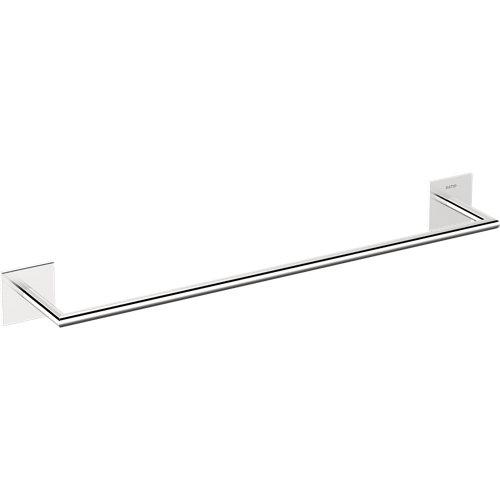 Toallero stick gris / plata cromado 45x4.5 cm