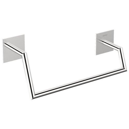 Toallero stick gris / plata cromado 25.5x10 cm