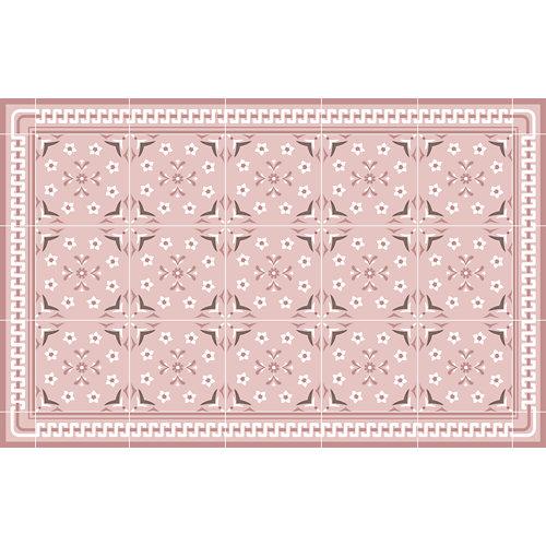 Alfombra rosa pvc giana rosa 48 x 75cm