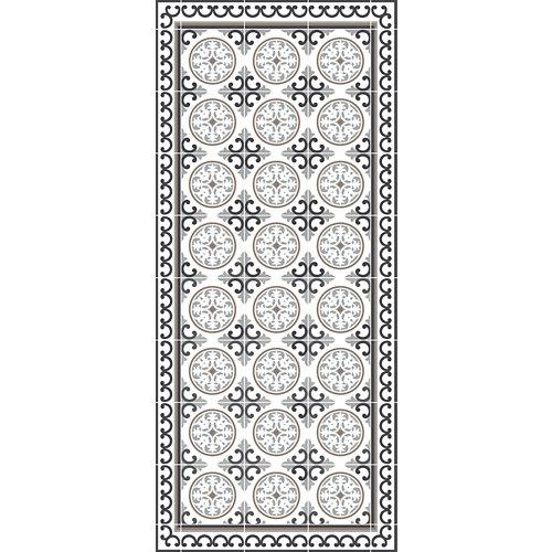 Alfombra gris pvc siro 48 x 110cm