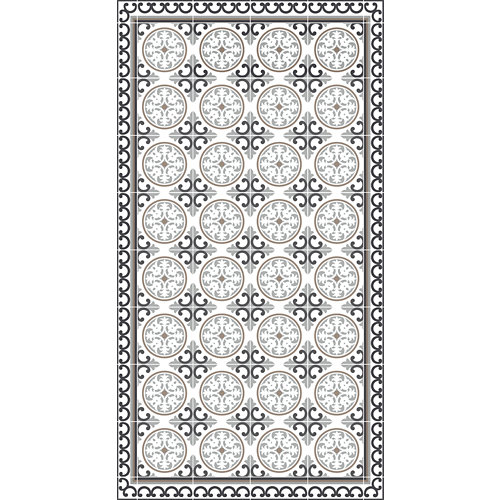 Alfombra gris pvc siro 80 x 150cm