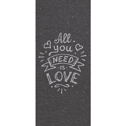 Alfombra gris pvc all you need is love 48 x 110cm