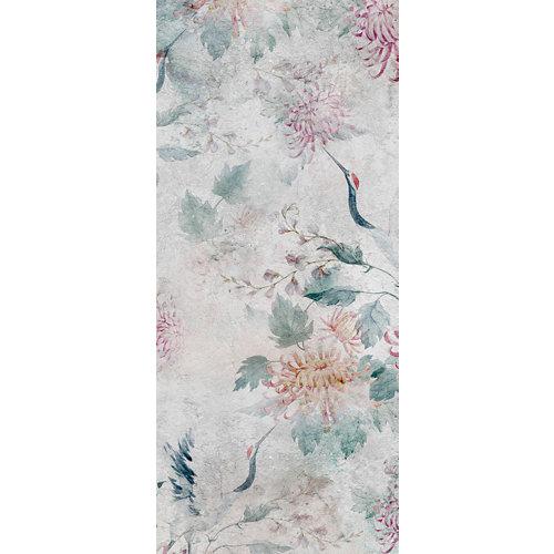 Alfombra gris pvc garzas japonesas 48 x 110cm