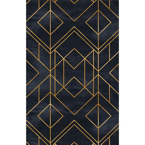 Alfombra negra pvc black gold 48 x 75cm