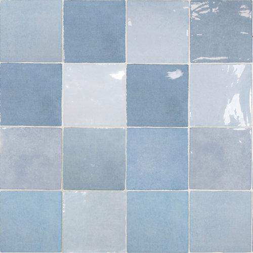 Azulejo cerámico artisan 13x13 azul glossy
