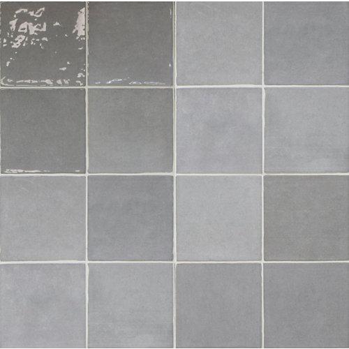 Azulejo cerámico artisan 13x13 gris glossy