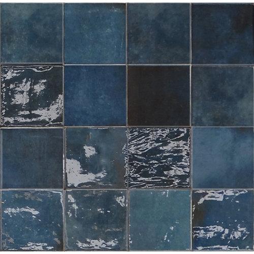 Revestimiento pared-artisan-azul osc glossy-13x13