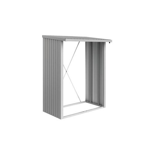 Leñero acero biohort gris / plata 157x199x102 cm