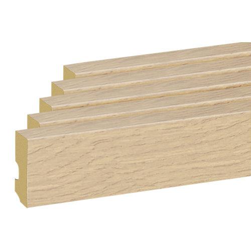 Pack 5 rodapiés 10x225 cm roble