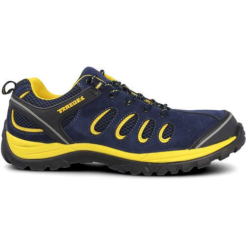 Zapato seguridad paredes, radio serraje azul, s1p talla 38